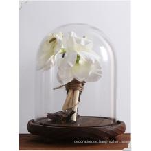 Heiße verkaufende Borosilikat-Kuchen-Standplatz-Glashaube