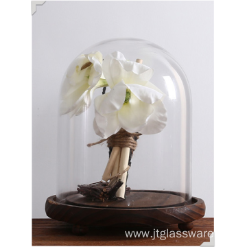 Hot Selling Borosilicate Cake Stand Glass Dome