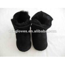 Черная кожаная обувь для малыша