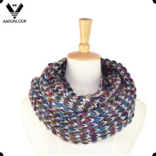 Fashion Multicolor Mohair Knitted Infinity Scarf