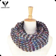 Écharpe multicolore multicolore Mohair tricotée à l'infini