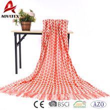Low price most popular acrylic throw knit blanket