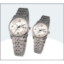 Amante de relógios, relógios de aço inoxidável casal (15175)