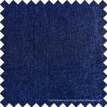 Azul Algodón Rayón Poliéster Spandex Brushed Denim Tela