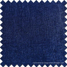 Blue Cotton Rayon Polyester Spandex Brushed Denim Fabric