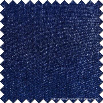 Blue Cotton Rayon Polyester Spandex Tissu Brossé Denim