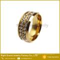 Anel de dedo novo personalizado das senhoras do projeto Anel barato do zircão cúbico do casamento
