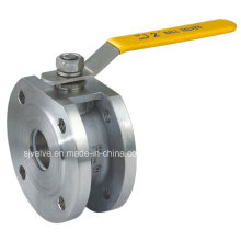Válvula de esfera de flange Wafer CF8