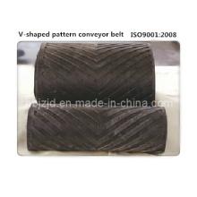 Chevron-Patterned High Incline Conveyor Belt