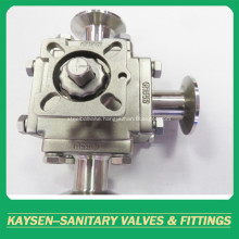 3A Hygienic manual square 3-way ball valves