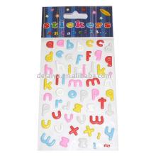Sponge letter sticker