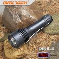 Maxtoch DI6X-4 noir aluminium imperméable à l'eau LED plongée lampe de poche T6 ensembles