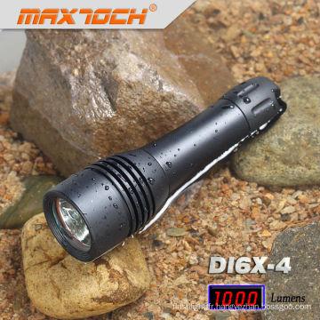 Maxtoch DI6X-4 Noir Aluminium Étanche LED Plongée Lampe de poche xml
