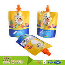 Wholesale Custom Design Gravure Printing Stand Up Reusable Liquid Food Plastic Drinks Spout Bags For Juice