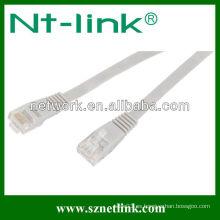 24AWG Cobre desnudo (o CCA) UTP Cat5e Cat6 Cable de remiendo plano