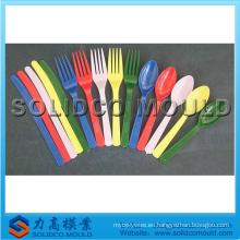 Molde plástico de la cuchara de la bifurcación del cuchillo, molde del cuchillo, molde de la vajilla
