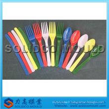 Moule en plastique de cuillère de fourchette de couteau, moule de couteau, moule de vaisselle