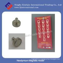 Support magnétique de néodyme avec filetage