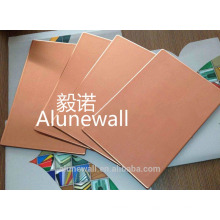 2 meter width 3mm 4mm Copper Composite Panel CCP Chinese manufacturer