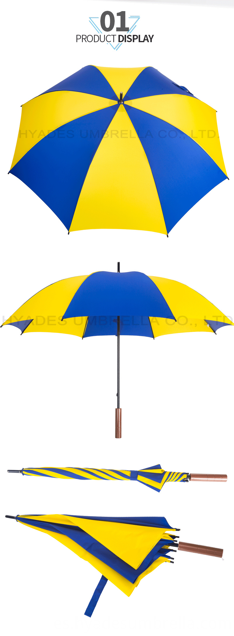 Manual Open Straight Umbrella For Brand Awareness