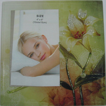 "Silk-Screen Glass Photo Frame In 4""X6"""