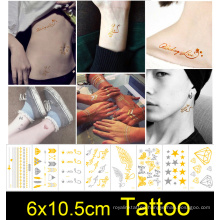 Safe Metallic Non-toxic Henna Temporary Hand Tattoo Stickers