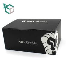 CMYK que imprime la caja de papel suave negra para su diseño del logotipo