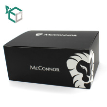 CMYK печатая черной мягкой бумажной коробки для Вашего логотипа дизайн