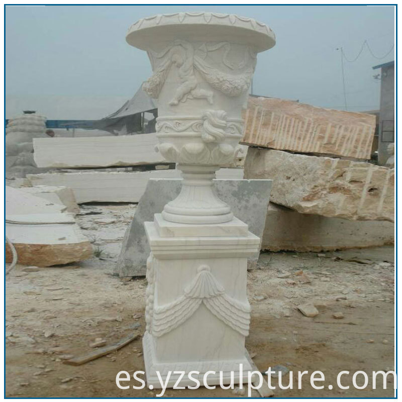 large size marble planter