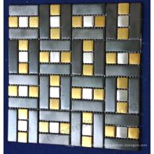 Настенная плитка из нержавеющей стали Металлическая мозаика (SM228)