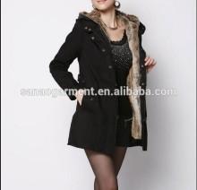 New Ladies Women's Winter Warm Casual Parka Fur Jacket Hooded lady jacket
