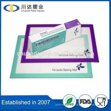 Горячий продавать FDA многоразового Aniti slip silicona лист для торта антипригарный силиконовый выпечки коврик набор