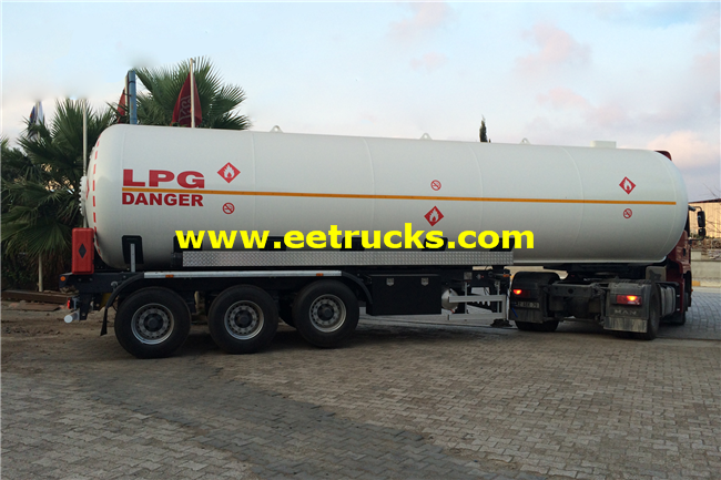 56m3 LPG Delivery Semi-Trailers