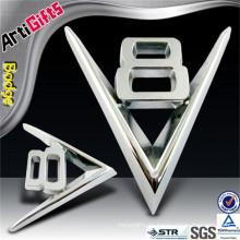 Insignia de encargo profesional del coche de la letra del cromo de la compañía de Artigifts