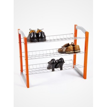 3 Tie Wood Shoe Rack