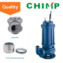 Wq (D) Single-Phase or Three-Phase 0.75kw Dirty Water Submersible Centrifugal Pump (WQ(D)10-8-0.75)
