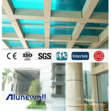 Alunewall peso ligero acabado de mármol panel compuesto de aluminio / piedra aspecto paneles de pared mejor venta materiales de construcción exterior