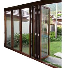 Modern house design aluminium frame exterior accordion door lowes