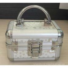 Silberner kleiner Aluminiumuhr-Aufbewahrungsbehälter mit Schaum