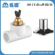 Vanne à bille en laiton PPR pour matériaux de construction en eau (PN25)