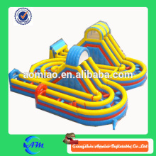 outdoor inflatable obstacle course equipment truck inflatable obstacle