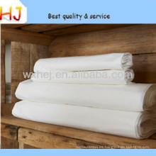 Tejido de cama de hotel de ancho ancho blanco T / C 50/50