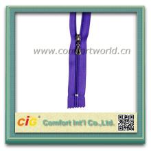 Colorful 5# Nylon Zipper Closed End Metal Color Zipper