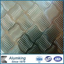 Plaque en aluminium diamantée à carreaux pour plancher antidérapant