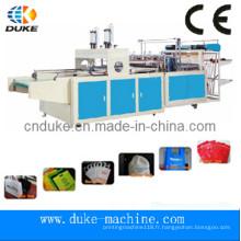 Machine de fabrication de sacs non tissés entièrement automatique Taiwan pour faire un sac de t-shirt (DFHQ-450X2)