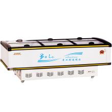 680L Mostruário Display Porta de correr Ilha Freezer para Supermercado