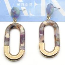 2020 2021 fashion colorful acetate  U shape gold plated stud earrings
