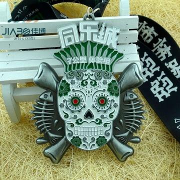 Custom Metal Marathon Running Award Sports Medal with Ribbon