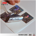 Etiqueta de segurança holograma adesivo prata