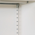 Шкафы для хранения с перьями со стеклянной дверцей